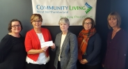 Community Living Cheque Presentation